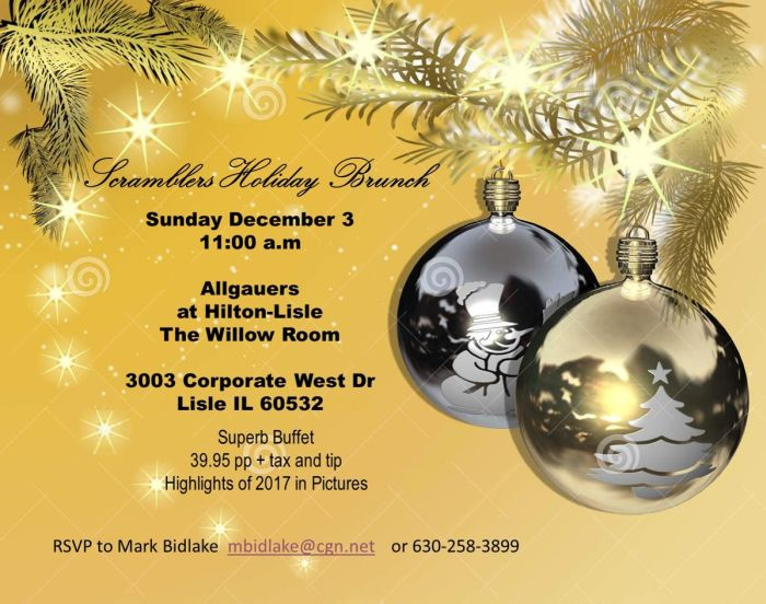 Allgauers Christmas Brunch 2020 Upcoming Events » » 2017 Holiday Brunch